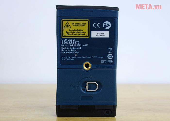 Máy đo khoảng cách laser Bosch GLM 250 VF có thiết kế nhỏ gọn