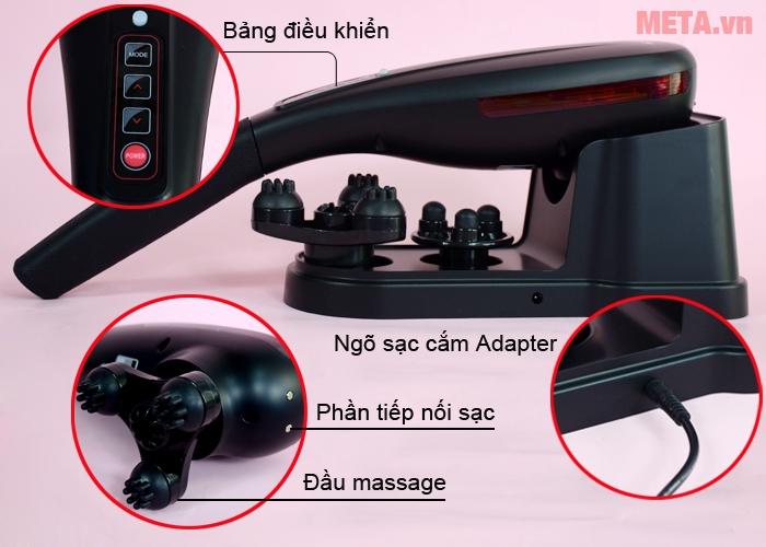 Cấu tạo máy massage cầm tay Maxcare Max631S
