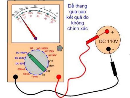 Hướng dẫn đo điện áp một chiều DC bằng đồng hồ vạn năng