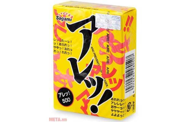 Bao cao su Sagami Are - Are làm bằng cao su tự nhiên