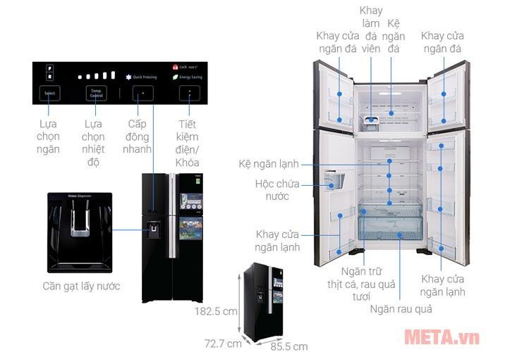 Cấu tạo Tủ lạnh Hitachi