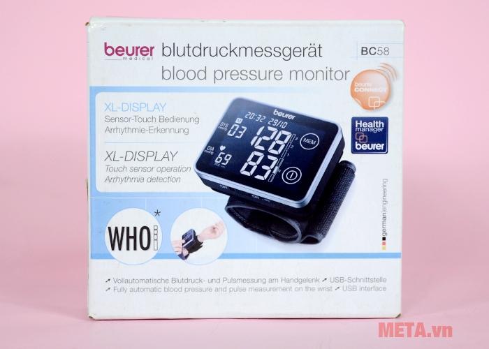 Hình ảnh hộp đựng máy đo huyết áp cổ tay BC-58