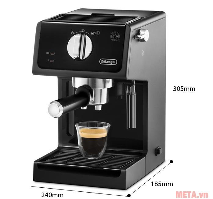Kích thước Máy pha cà phê Delonghi