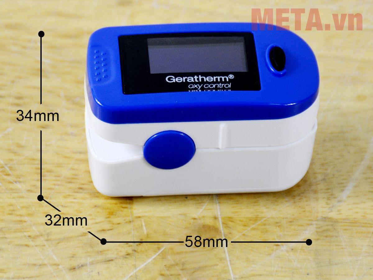 Kích thước máy đo nồng độ oxy trong máu Geratherm GT-300C203