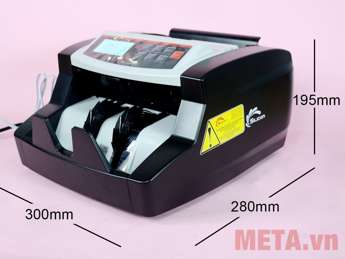 Kích thước máy đếm tiền Silicon MC-2700