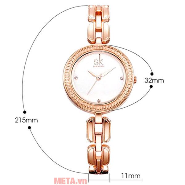 Kích thước của đồng hồ