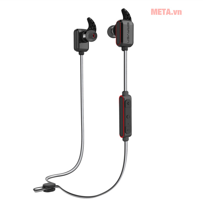 Tai nghe thể thao không dây bluetooth Braven Flye Sport Reflect - Grey/Red