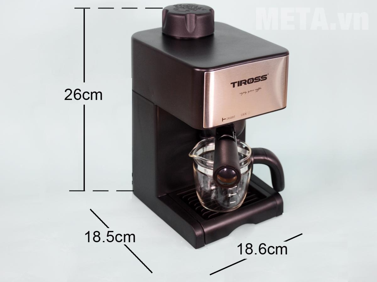 Kích thước máy pha cà phê Espresso Tiross TS621