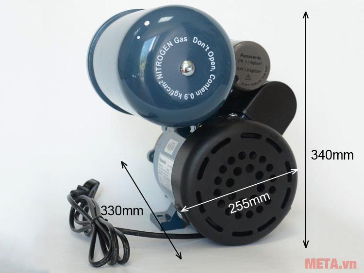 Kích thước Máy bơm nước tăng áp
