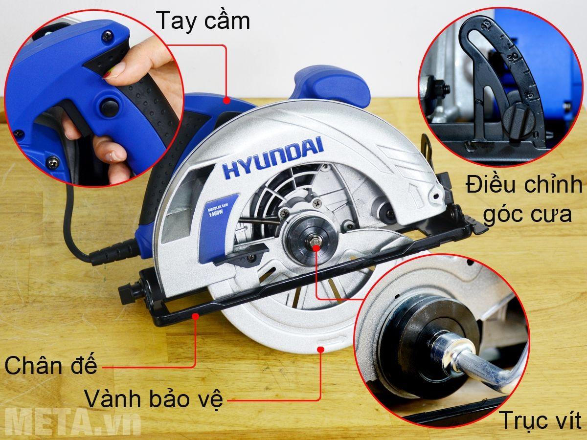 Cấu tạo máy cưa đĩa Hyundai HCD186