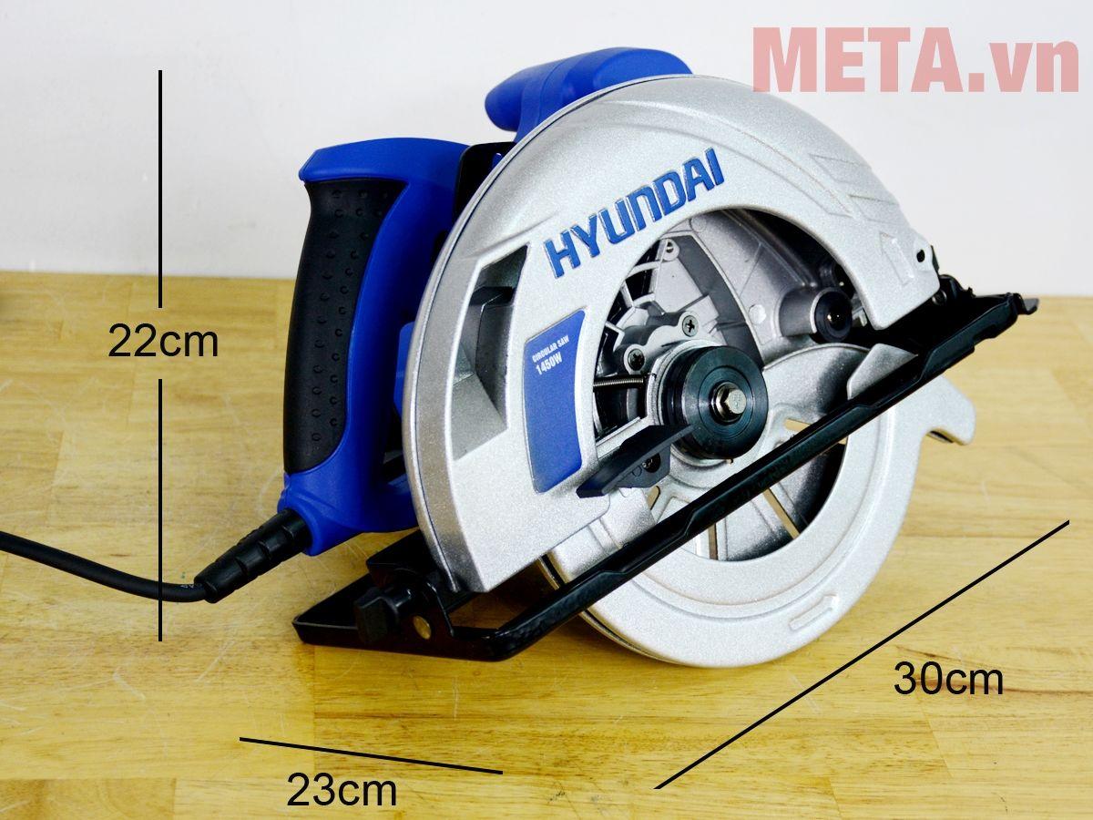 Kích thước máy cưa đĩa Hyundai HCD186