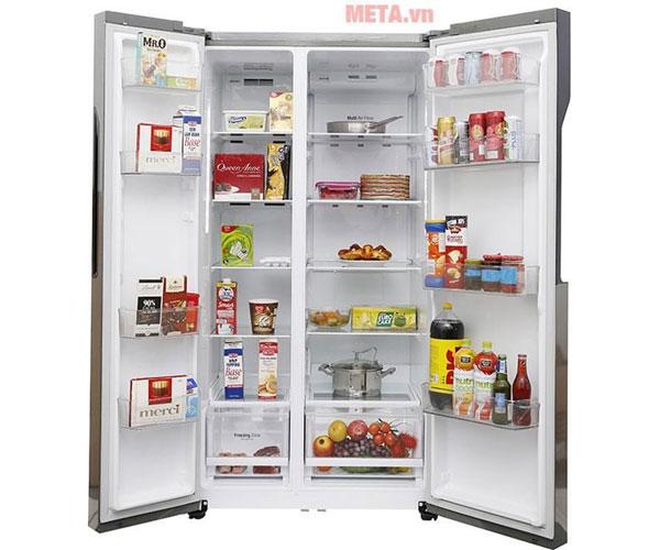 Tủ lạnh LG GR-B247JDS 613 lít thiết kế cánh cửa side by side tiện lợi