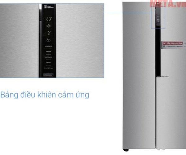 Bảng điều khiển bên ngoài hiển thị các chế độ hoạt động của tủ rõ ràng