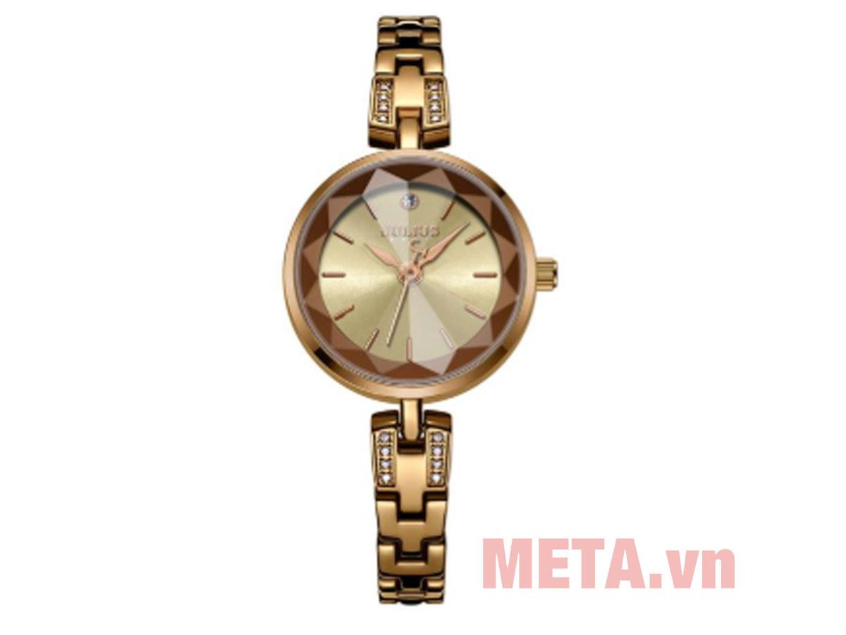 Đồng hồ Julius JA-1103 mặt màu vàng