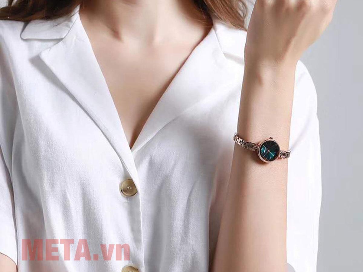 Đồng hồ Julius JA-1103 mặt màu xanh