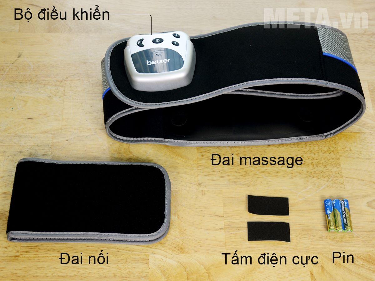 Bộ sản phẩm đai massage Beurer EM38
