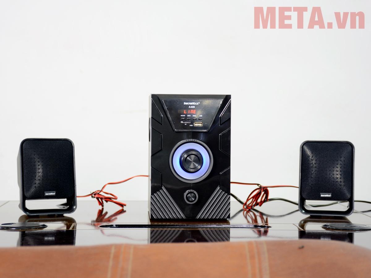 Loa vi tính Soundmax A826 2.1 sở hữu thiết kế sang trọng