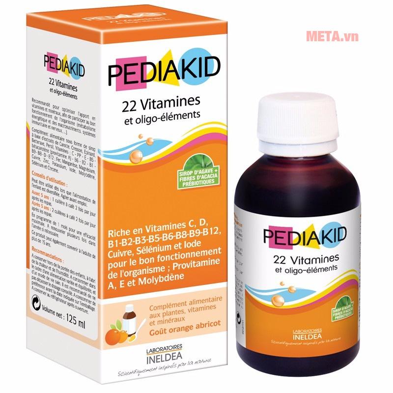 Pediakid 22 Vitamines Et Oligo Éléments - 22 vitamin và khoáng chất