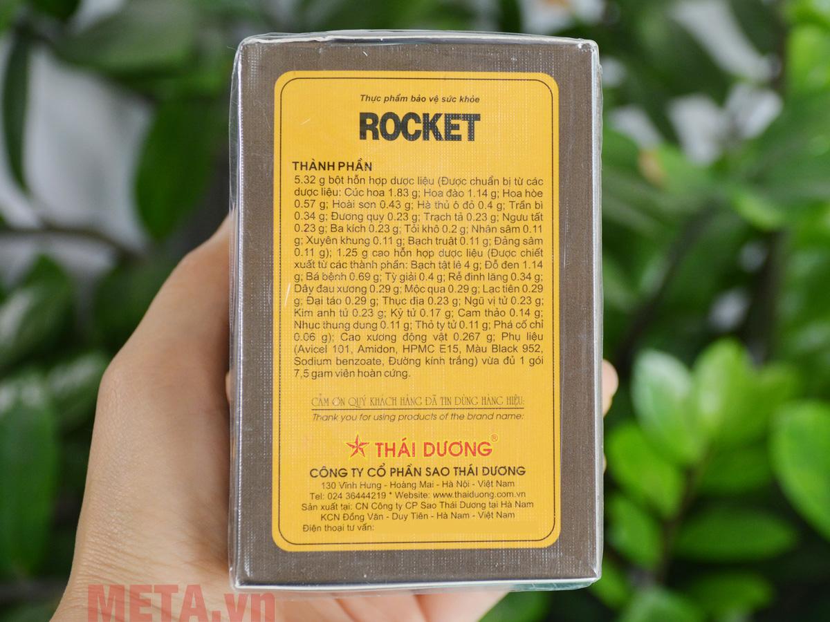 Thành phần có trong Rocket