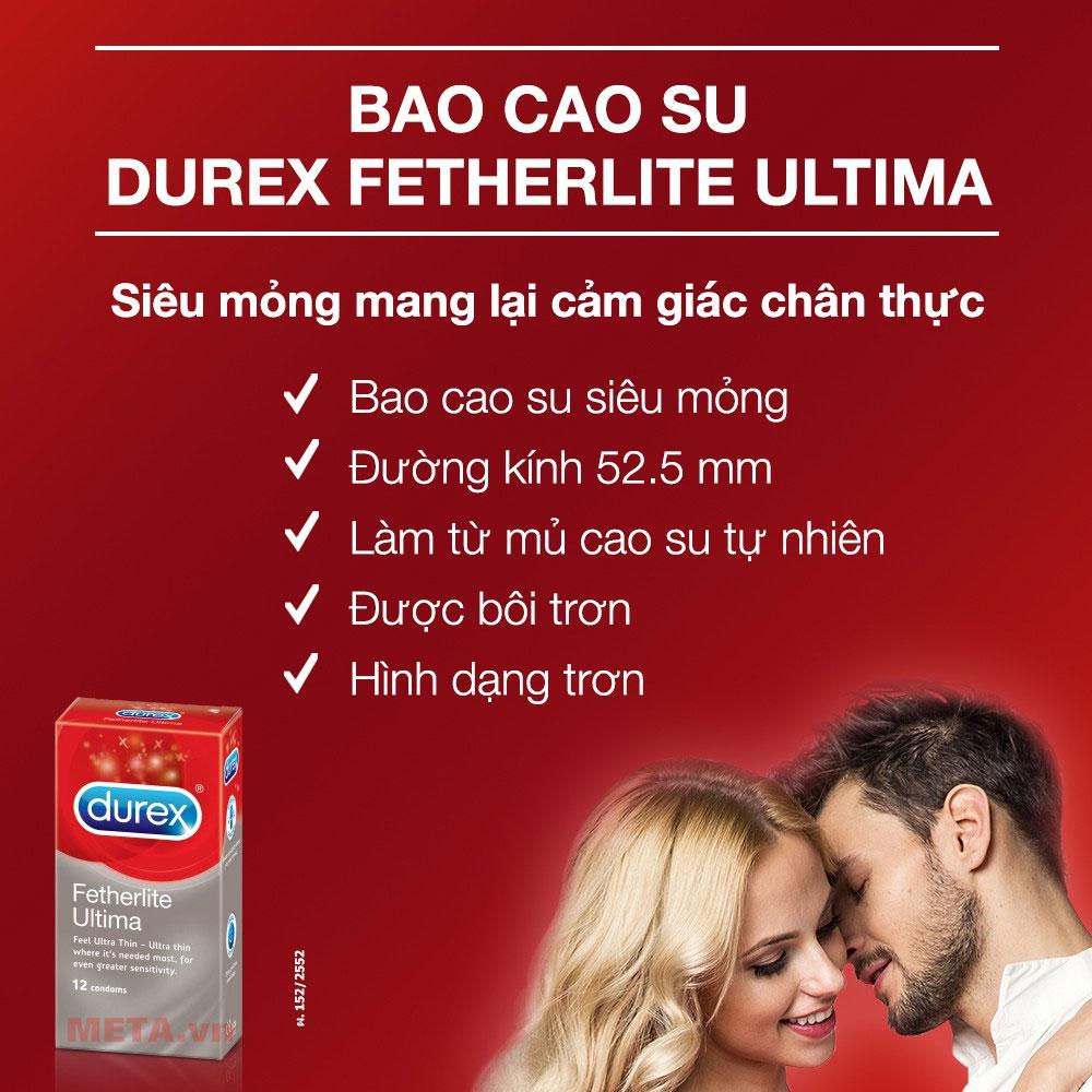 Durex Fetherlite Ultima có nhiều gel bôi trơn hơn thông thường