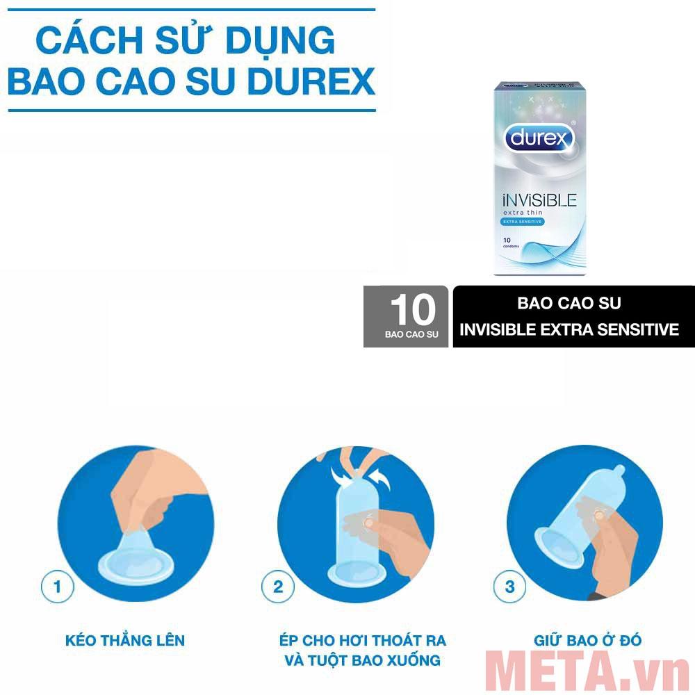 Cách sử dụng bao cao su Durex