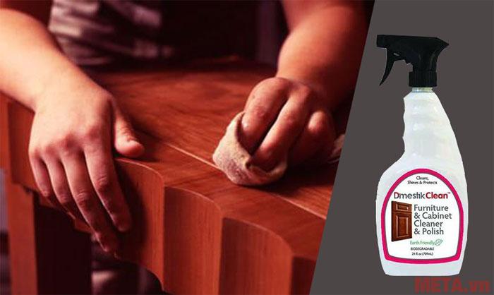 D'mestik Clean 309 phù hợp tẩy rửa mọi bề mặt gỗ