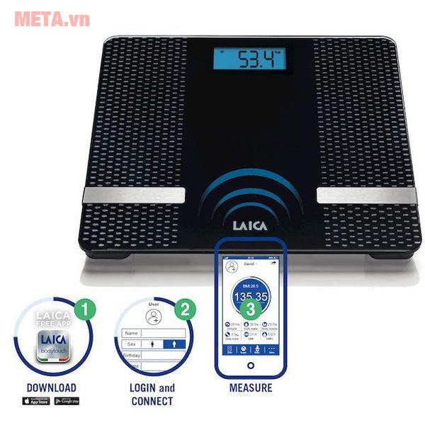 Cân đo tỷ lệ mỡ nước Bluetooth