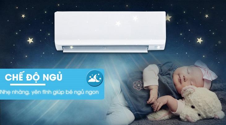 bật chế độ Sleep trên điều hòa gree khi ngủ