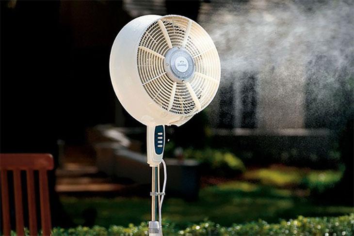 Sử dụng quạt phun sương an toàn hiệu quả