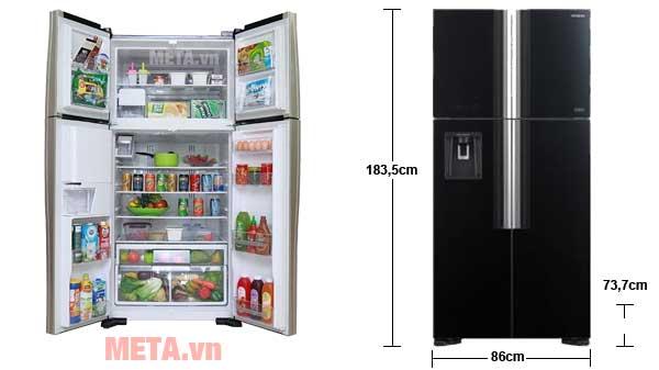 Kích thước tủ lạnh thông dụng