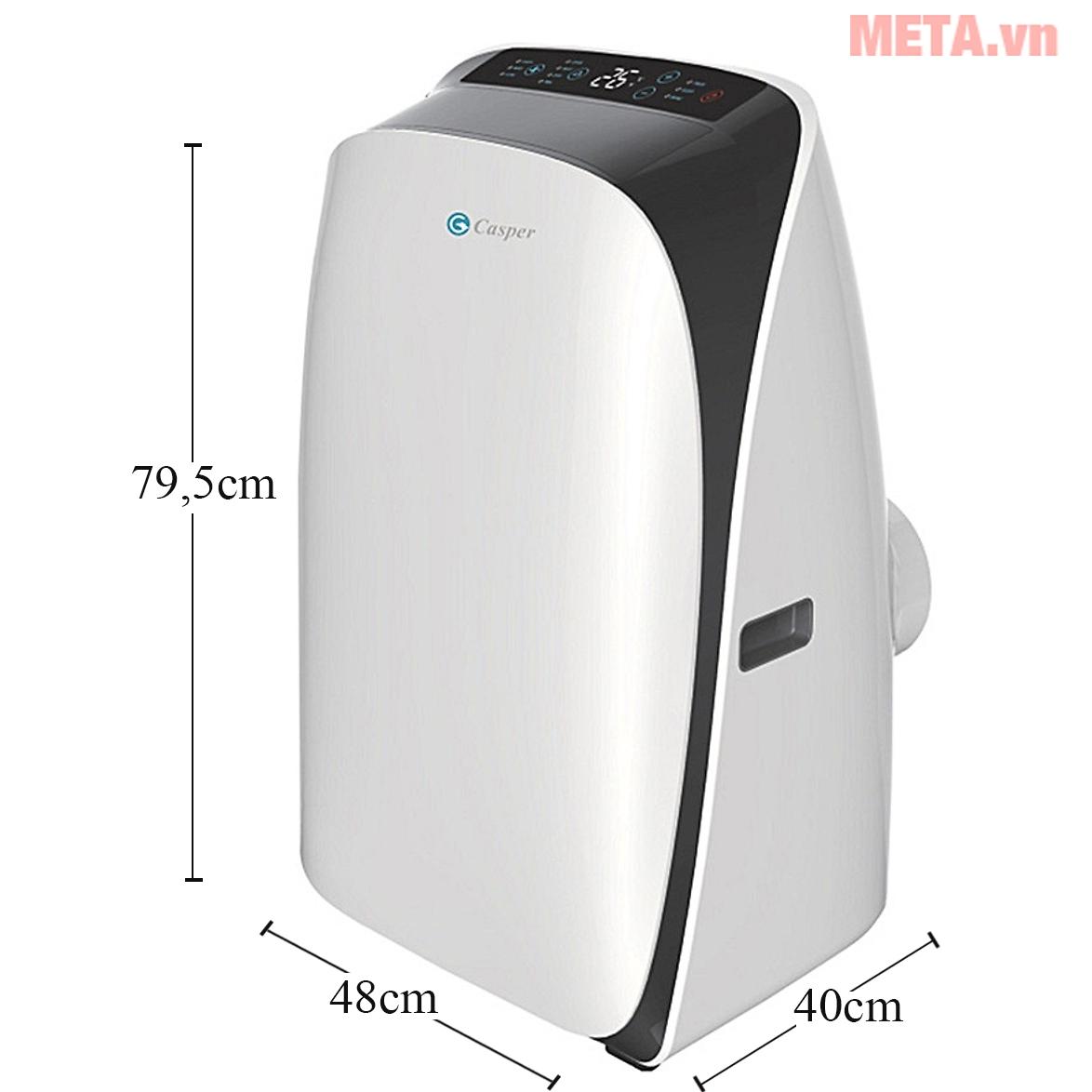 Kích thước của máy lạnh di động