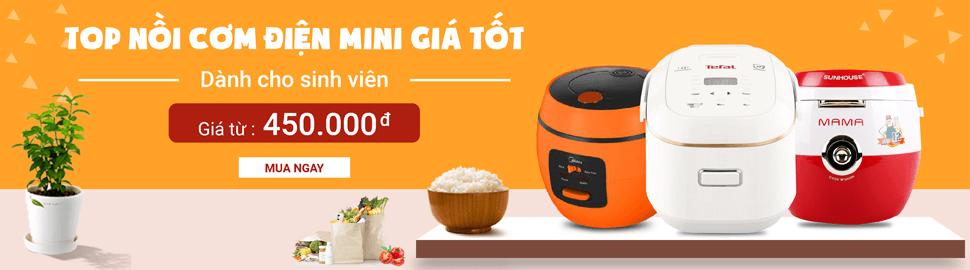 Top noi com dien mini gia re danh cho sinh vien