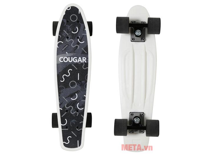 Ván trượt Cougar Penny QJ màu trắng