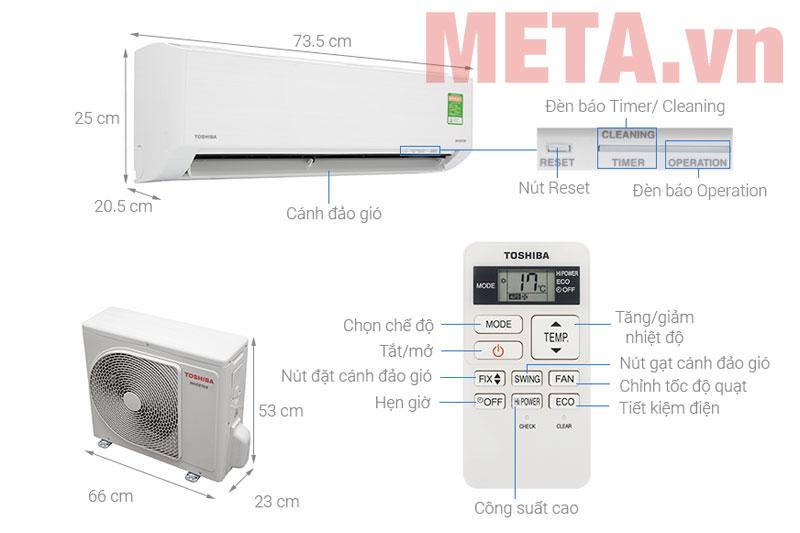 Máy lạnh Toshiba 1 chiều
