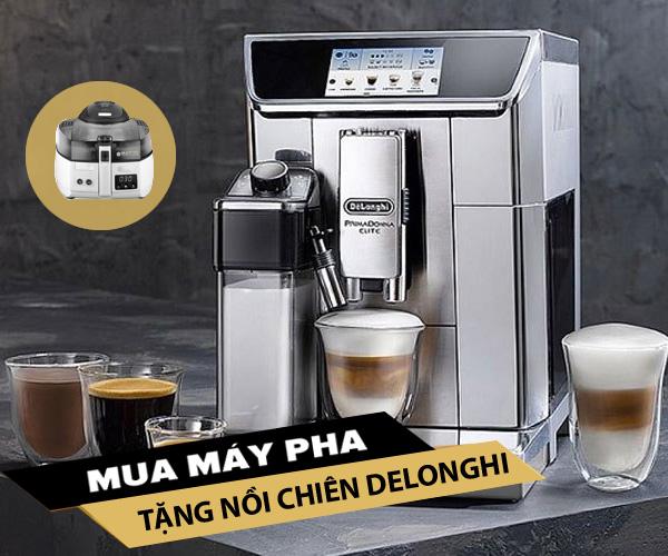 Tặng nồi chiên khi mua máy pha cà phê Delonghi