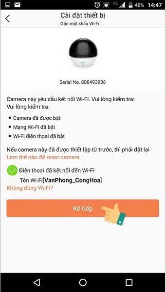 Cách cài đặt kết nối camera trên điện thoại 7