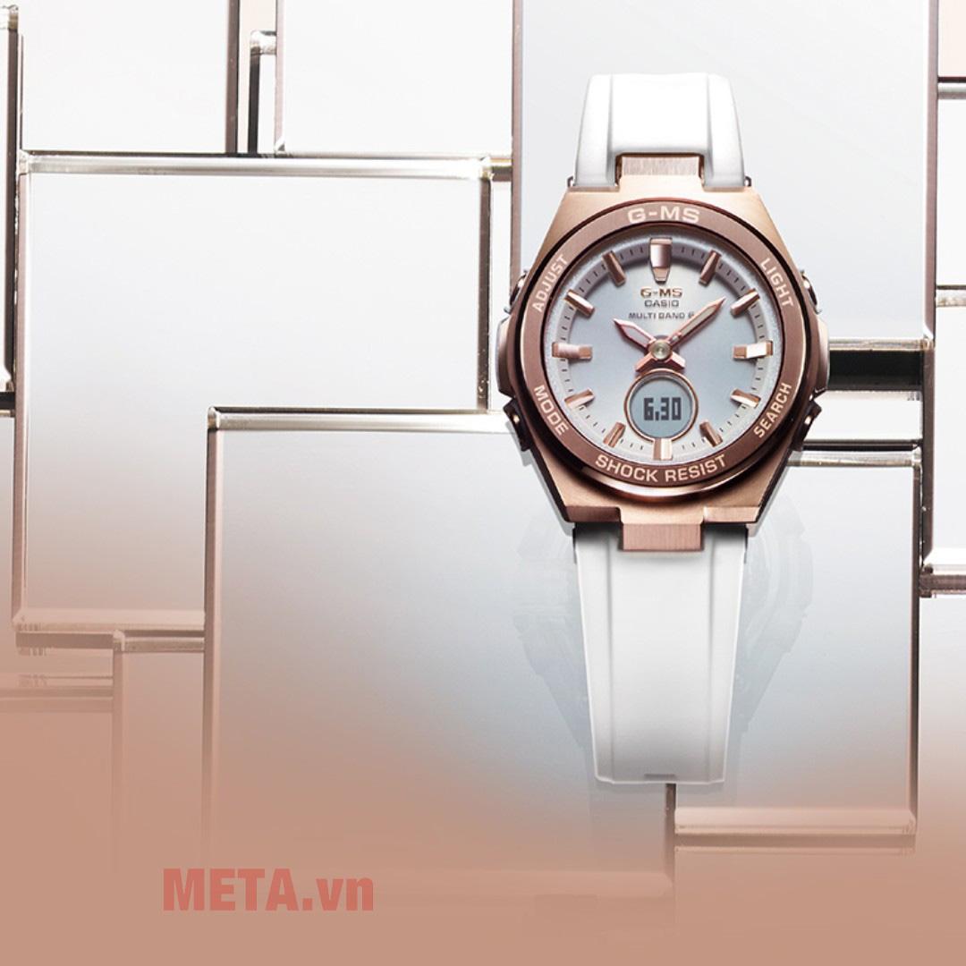 Đồng hồ nữ Baby-G MSG-S200G-7ADR trắng
