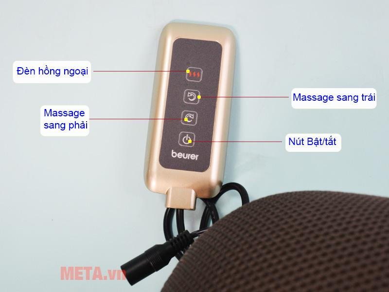 Gối massage có đèn hồng ngoại Beurer MG147 mang lại cảm giác thật thư giãn.