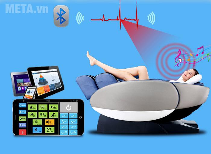 Thư giãn với ghế massage