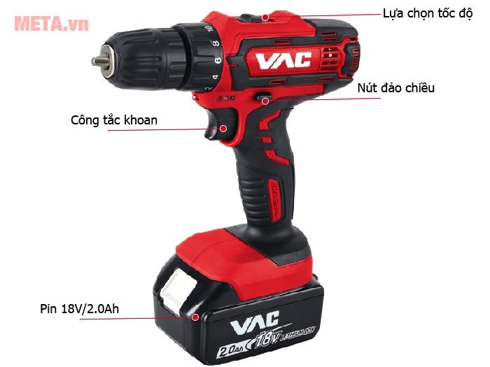 Máy khoan pin VAC VA1301 10mm