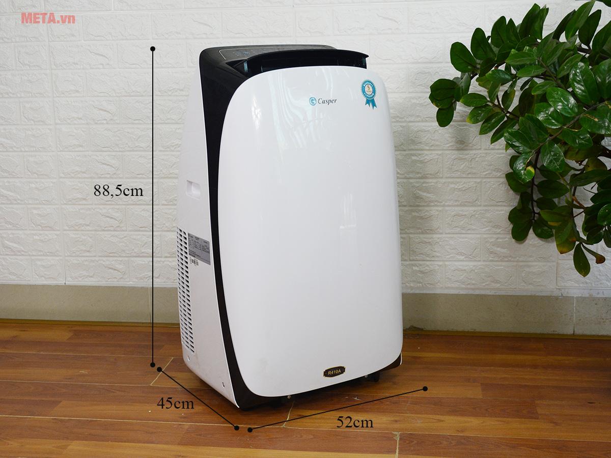 Kích thước máy lạnh di động