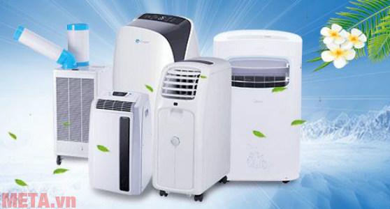 Máy lạnh di động mini sử dụng được linh hoạt trong nhiều không gian nhà bếp, phòng khách, phòng ngủ...
