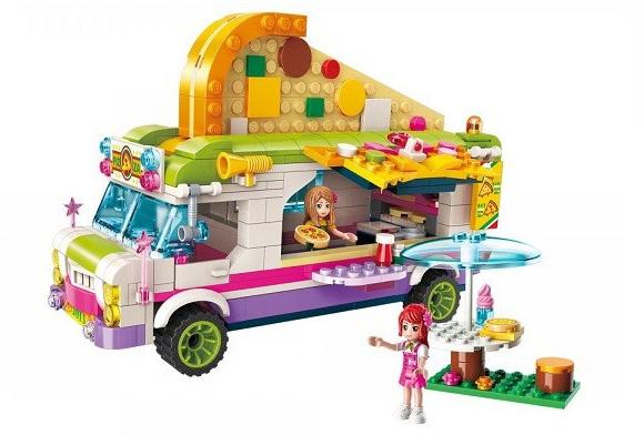 Đồ chơi lắp ghép QMAN Joy Pizza Car