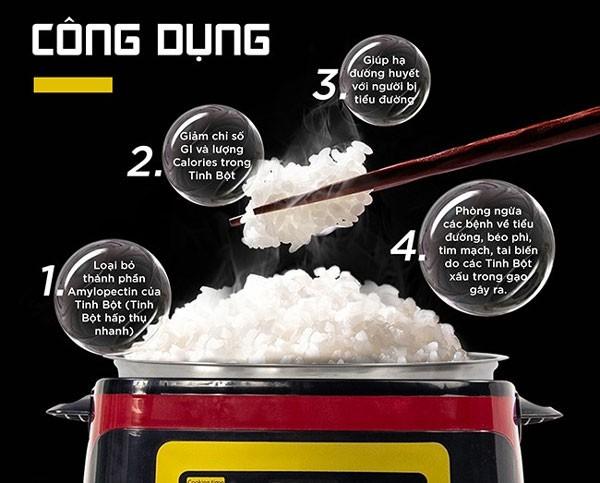 công dụng của nồi cơm tách đường
