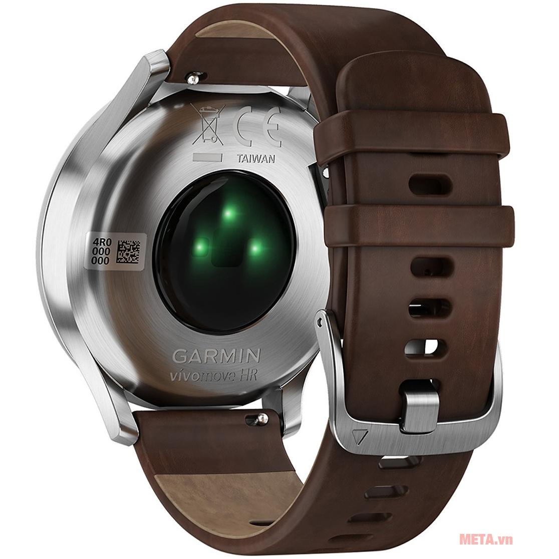 Đồng hồ Garmin vivomove HR (Premium edition) có khả năng đo nhịp tim