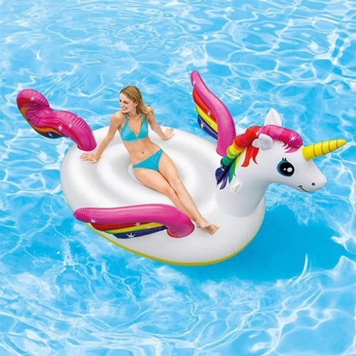 Phao bơi ngựa thần khổng lồ sắc màu INTEX