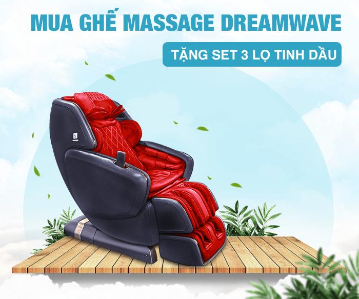 Mua ghế massage toàn thân Dreamwave tặng set 3 lọ tinh dầu