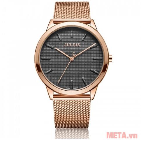 Đồng hồ Julius JA-982 màu đồng mặt đen