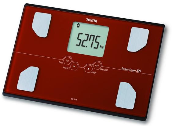 Cân sức khỏe và phân tích cơ thể Tanita BC-313 màu đỏ
