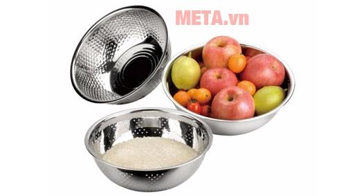 Rổ lỗ thủng giúp rau củ quả được ráo nước sau khi rửa sạch